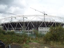 Olympic stadium under construction September 2009