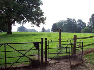 A 'Kissing Gate' deep in the English countryside
