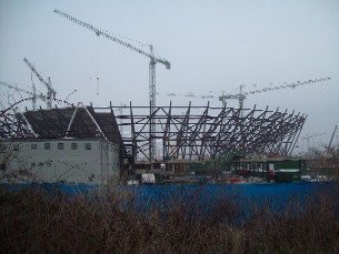 Olympic stadium under construction January 2009